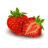 Strawberry isolated poster Stock Images