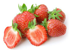 Strawberry isolated on a white Royalty Free Stock Photos