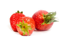 Strawberry isolated on white. Strawberry isolated on a white background stock images