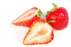 Strawberry isolated on white Royalty Free Stock Photo