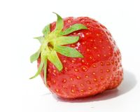 Strawberry-isolated on white Stock Photos