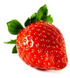 Strawberry. Isolated strawberry on white background stock photos
