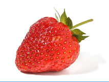 Strawberry. On the isolated white background Royalty Free Stock Photo