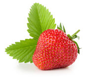 Strawberry isolated on the white background.  Royalty Free Stock Photo