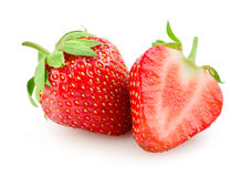 Strawberry isolated on white. Background Stock Photos