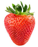 Strawberry isolated on the white background.  Stock Photos