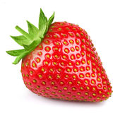 Strawberry isolated on white stock photos