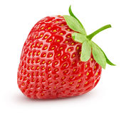 Strawberry isolated on white. Background. Clipping Path stock images