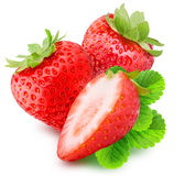 Strawberry isolated on white background. With clipping path Stock Photos