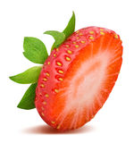 Strawberry isolated on white background. With clipping path Royalty Free Stock Image