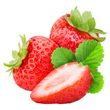 Strawberry isolated on white background. With clipping path Royalty Free Stock Photo