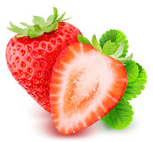 Strawberry isolated on white background. With clipping path Stock Photo