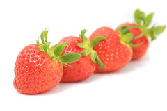Strawberry isolated on white background cutout Royalty Free Stock Photos
