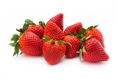 Strawberry isolated on white background. Fresh berry. Strawberry isolated on white background Fresh berry Stock Photography