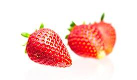 Strawberry Isolated on  white background. Strawberry fruits, isolated on white background Royalty Free Stock Photo