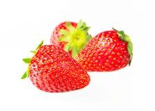 Strawberry Isolated on  white background. Strawberry fruits, isolated on white background Stock Photo