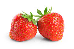 Strawberry isolated on white background. Royalty Free Stock Photo