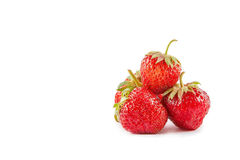 Strawberry isolated on white background. Ripe red strawberries closeup isolated on white background Stock Images