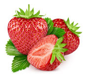 Strawberry isolated on white royalty free stock photos