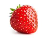Strawberry isolated on white. Fresh strawberry close-up isolated on white background stock photos