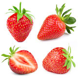Strawberry isolated on white Royalty Free Stock Images