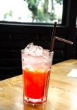 Strawberry Italian soda Stock Photo