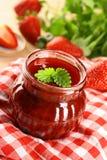 Strawberry Jam. Big Red Sweet Strawberry Jam Stock Photos