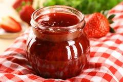Strawberry Jam. Big Red Sweet Strawberry Jam Stock Image