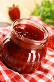 Strawberry Jam. Big Red Sweet Strawberry Jam Royalty Free Stock Image