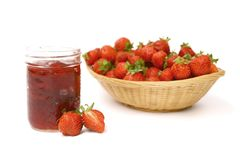 Strawberry jam Royalty Free Stock Photography