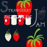 Strawberry jam Stock Photography