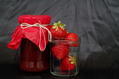 Strawberry jam Royalty Free Stock Images