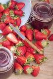 Strawberry jam Stock Photos