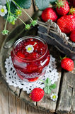 Strawberry jam Stock Image