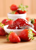 Strawberry jam Stock Photos