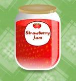Strawberry Jam stock illustration