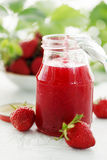 Strawberry jam in the bank Stock Image
