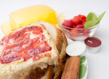 Strawberry jam with bread Royalty Free Stock Image