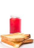 Strawberry Jam And Bread Toast III Stock Images