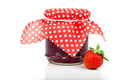 Strawberry jam and fresh berries Stock Images