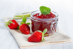 Strawberry jam Royalty Free Stock Image