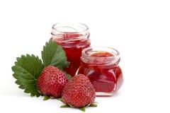 Strawberry jam with fresh strawberries Royalty Free Stock Image