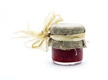 Strawberry jam. Isolated on white background Stock Photography