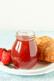Strawberry jam Stock Images