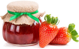 Strawberry jam Royalty Free Stock Photo