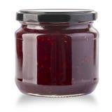 Strawberry jam jar isolated Royalty Free Stock Image
