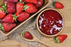 Strawberry jam or marmalade Stock Image