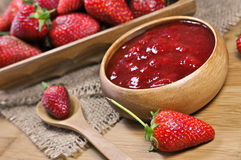 Strawberry jam or marmalade Royalty Free Stock Images