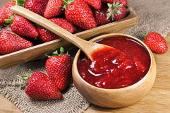 Strawberry jam or marmalade Stock Images