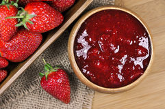 Strawberry jam or marmalade Royalty Free Stock Photography